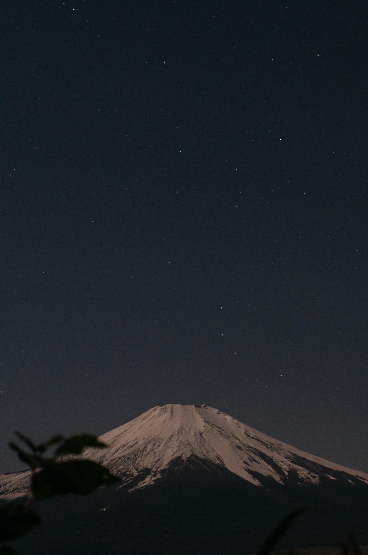 写真あり 雲が全くない夜に富士山を山中湖パノラマ台で撮影してきた